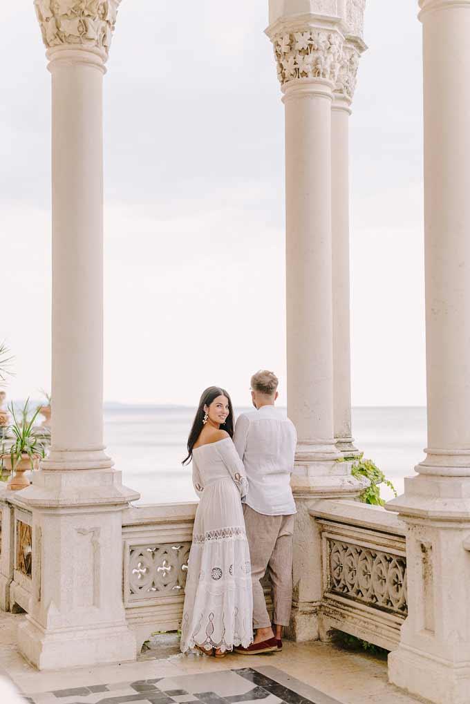 Fidanzamento, couple session, fotografo matrimonio teramo, wedding photographer abruzzo, fotografo matrimonio pescara, trieste, castello Miramare